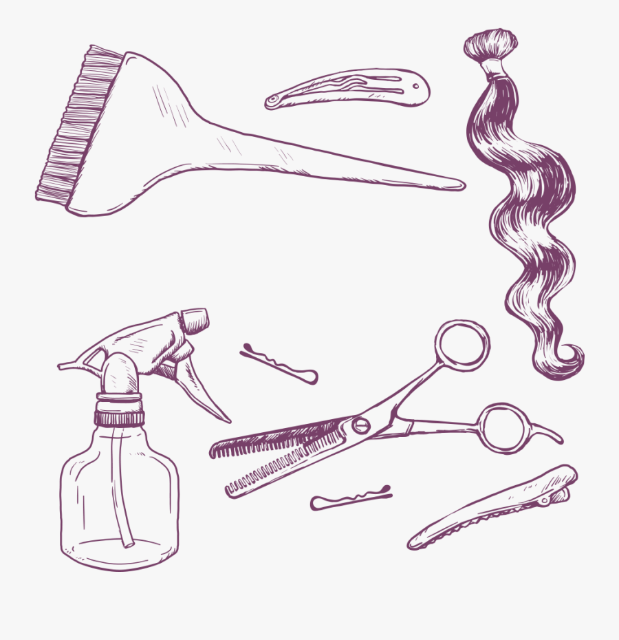Clip Art Cosmetology Drawing.