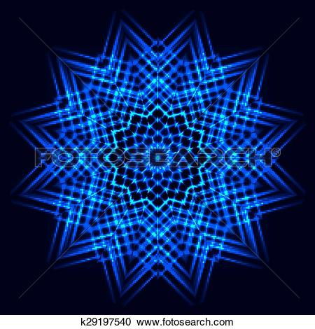 Clipart of Abstract cosmic star snowflake k29197540.
