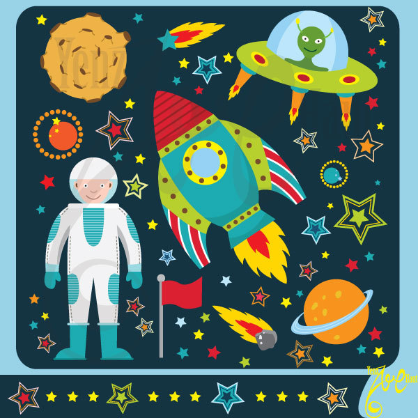 Outer space card.
