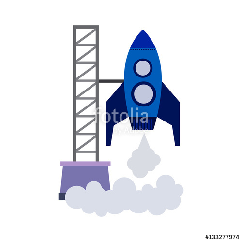"""cosmodrome flat icon"""" Stock image and royalty."""