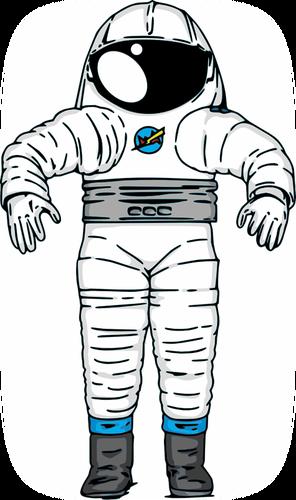 NASA Mark III Astronaut space suit vector drawing.