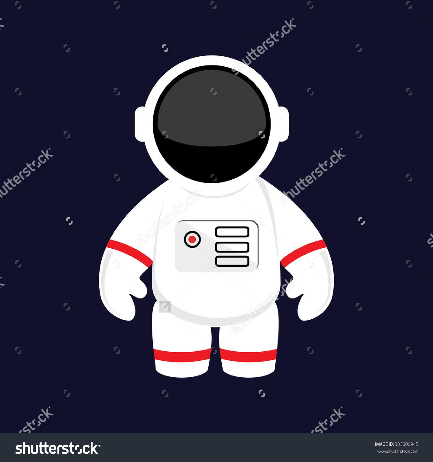 Vector Illustration Cartoon Astronaut Cosmonaut Space Stock Vector.