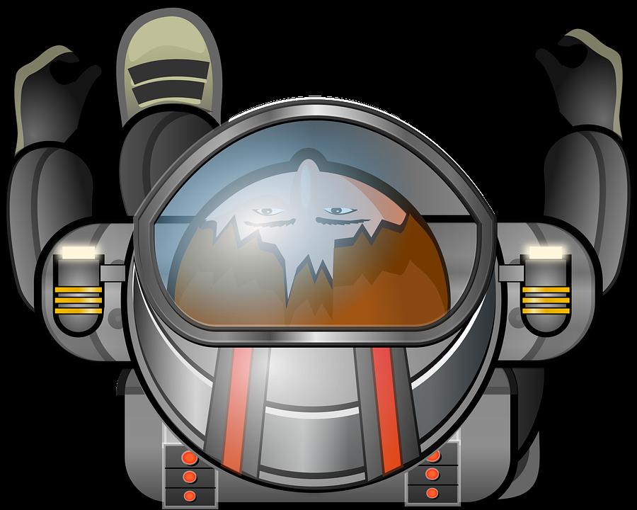 Free vector graphic: Cosmonaut, Space, Suit, Helmet.