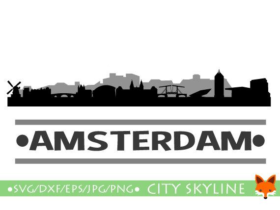 AMSTERDAM Holland Europe Skyline Urban by LittleFoxDigitals.