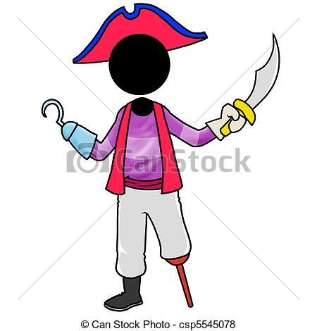 Stock Illustration of pirate.