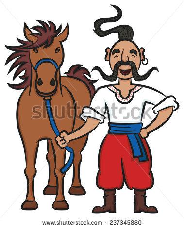 Cossack Horse Stock Photos, Royalty.