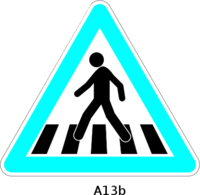 Clipart pedestrian crossing.