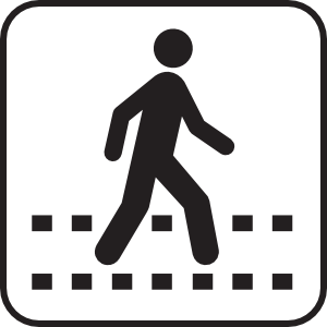 Pedestrian crossing clipart.