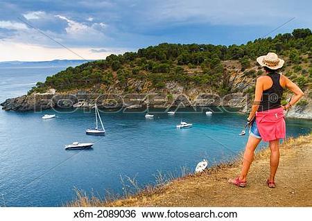 Stock Images of Cala Rostella. Roses. Costa Brava, Gerona.