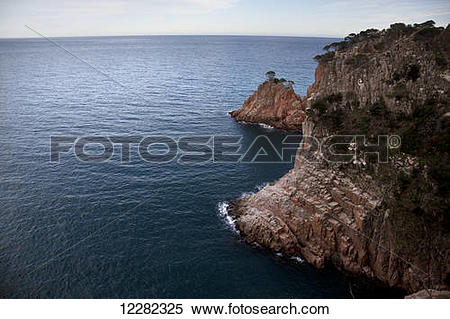 Stock Image of Cliff by the sea; Costa Brava, Spain 12282325.