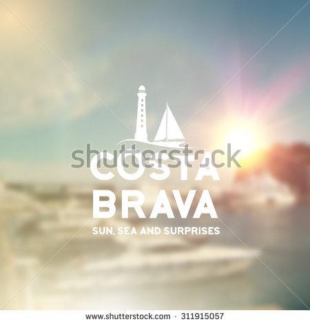 Costa Brava Beach Stock Vectors & Vector Clip Art.