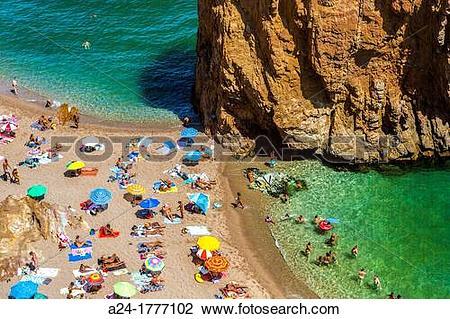 Stock Photo of Spain , Catalonia ,Costa Brava Coast ,Illa Roja.