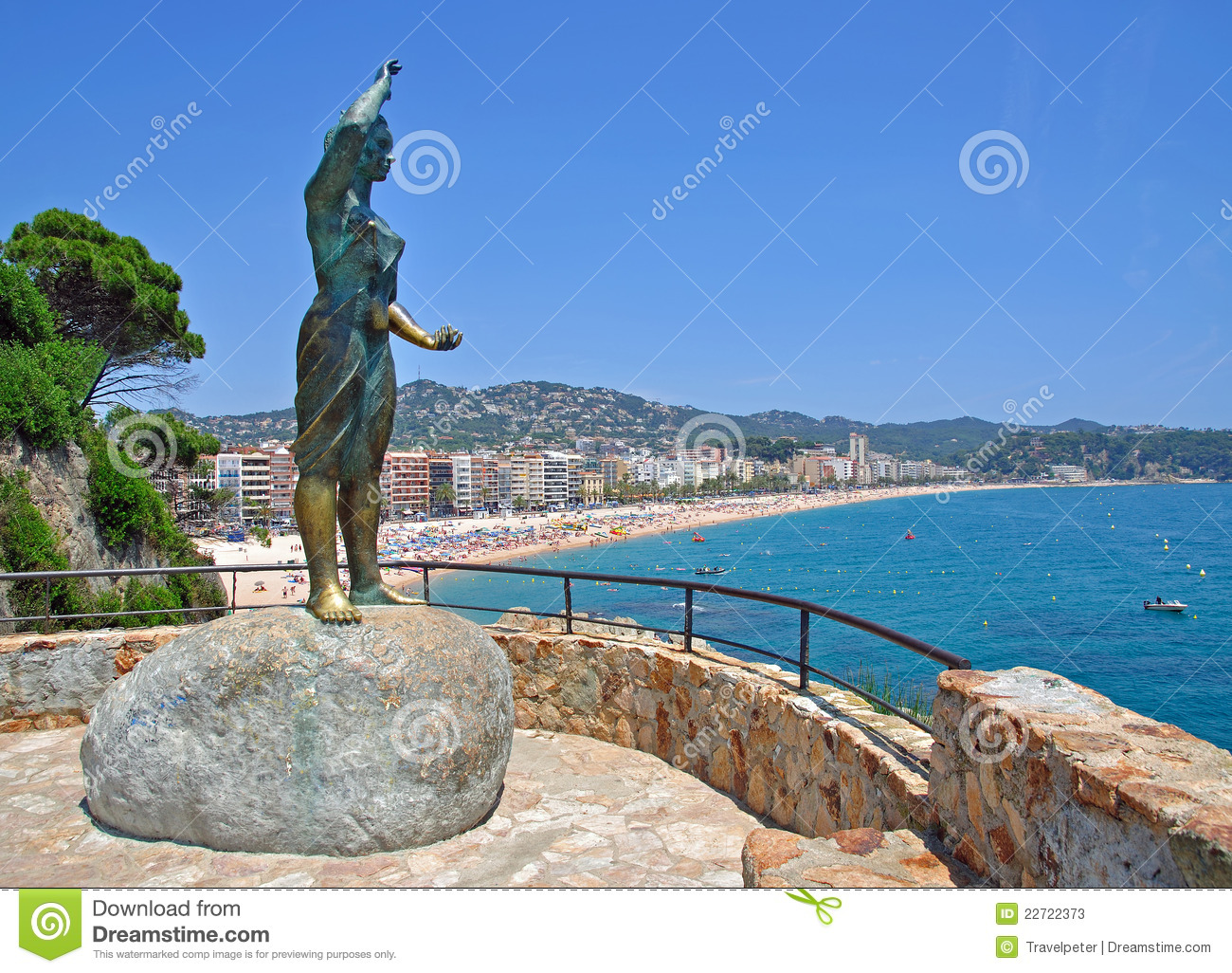 Lloret De Mar,Costa Brava,Spain Stock Photos.