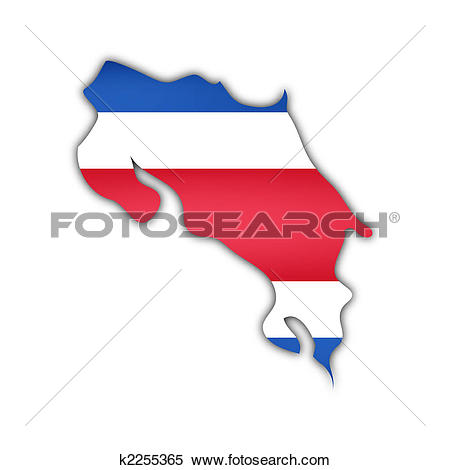 Stock Illustration of Costa Rica Flag k0275468.