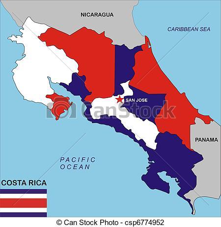 Clip Art of Costa Rica map.