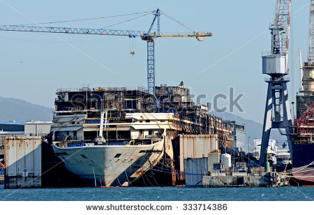 Ship Demolition Stock Photos, Royalty.