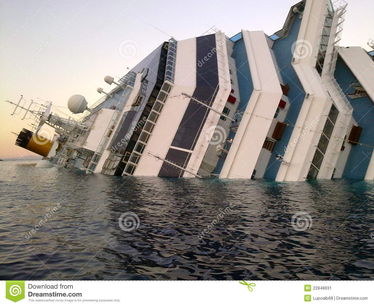 Sinking Cruise Ship Costa Concordia Editorial Photography.
