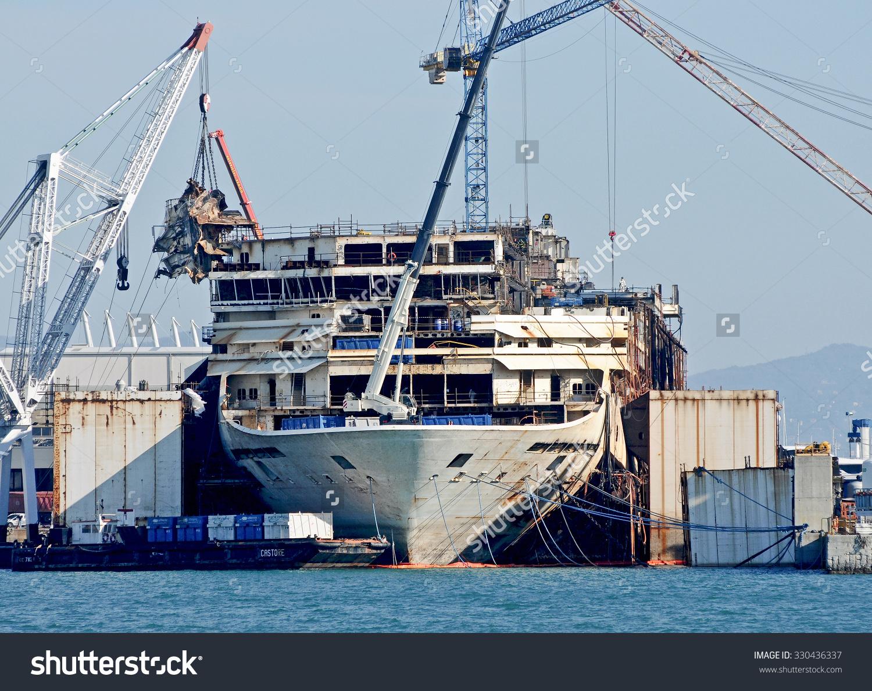Genoa Italy October 22 2015 Wreck Stock Photo 330436337.