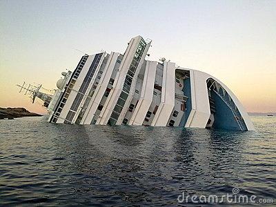 Sinking Ship Costa Concordia Editorial Photo.