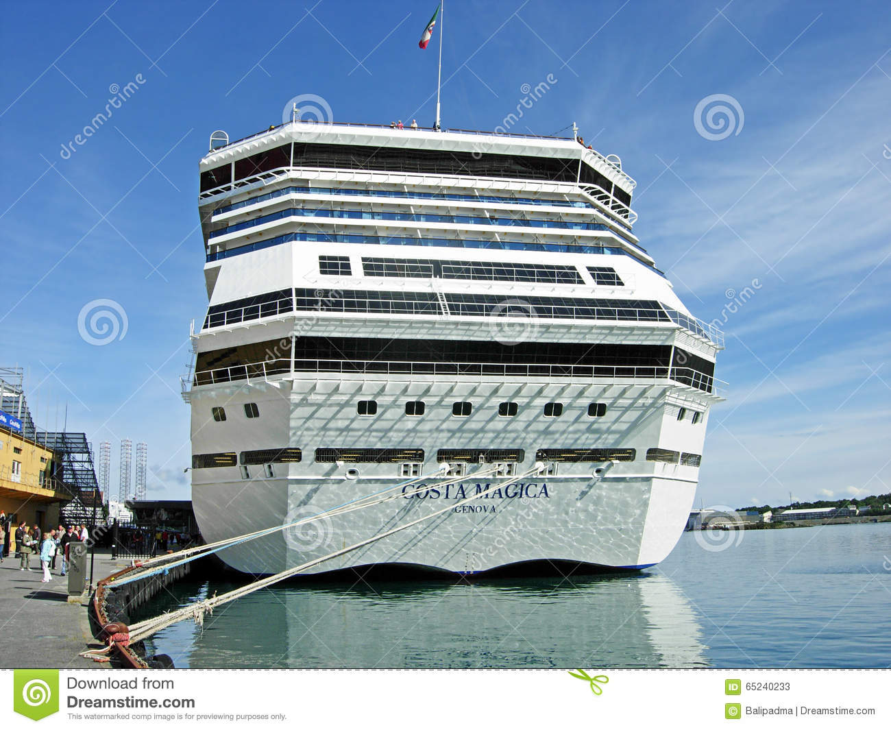 Cruise Ship Costa Magica In Stavanger (Norway) Editorial Stock.