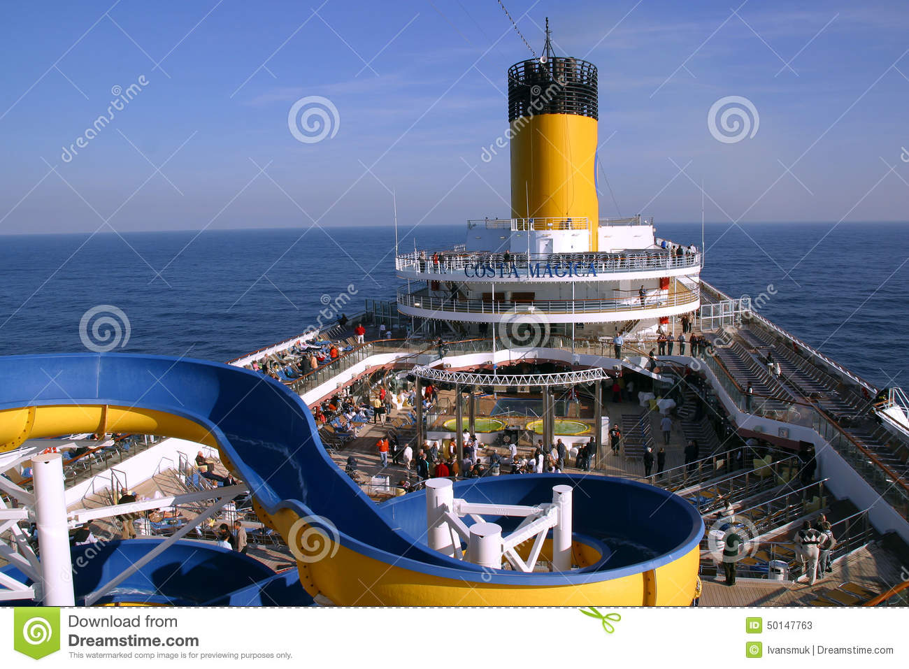 Deck Cruise Ship Costa Magica Editorial Stock Photo.
