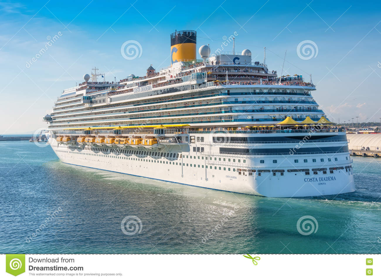 Costa Cruise Lines In Rome Editorial Image.