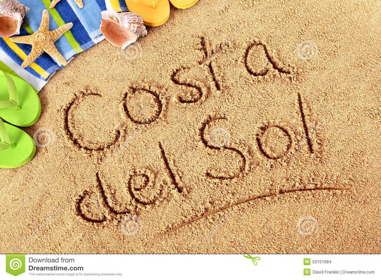 Costa Del Sol Stock Photo.