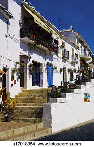 Stock Photo of Spain, Andalusia, Andalucia, Costa del sol, Mijas.
