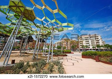 Stock Photography of La Pineda Costa Dorada, Catalonia, Spain x2l.