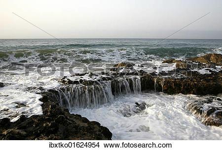"Stock Photo of ""Mediterranean coast in Sitges, Garraf Natural Park."
