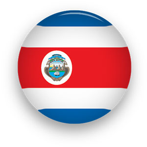 Free Animated Costa Rica Flags.