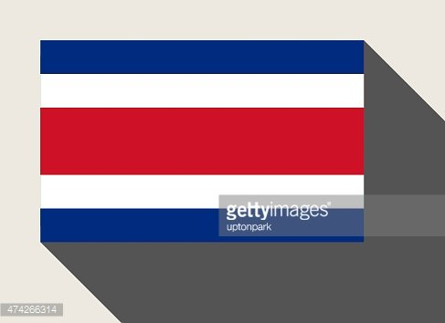 Costa Rica flag Clipart Image.