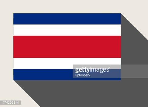 Costa Rica flag Clipart Image.