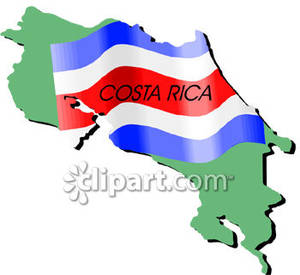 Costa Rica and Costa Rican Flag.