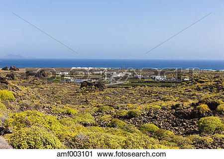 Stock Photography of Spain,Canary Islands, Lanzarote, Costa.