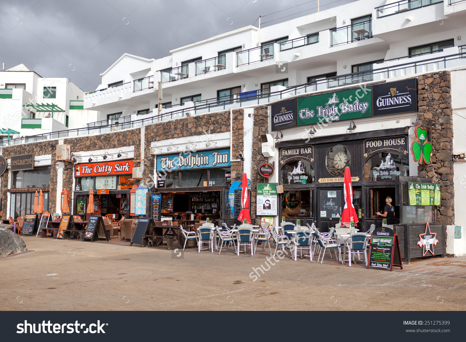 Costa Teguise Lanzarote Spain July 5 Stock Photo 251275399.
