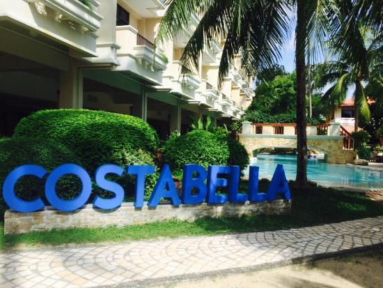 At CostaBella Tropical Beach Resort in Mactan Cebu.
