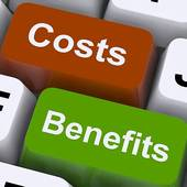 Stock Illustrations of Costs Benefits Buttons Shows Cost Benefit.