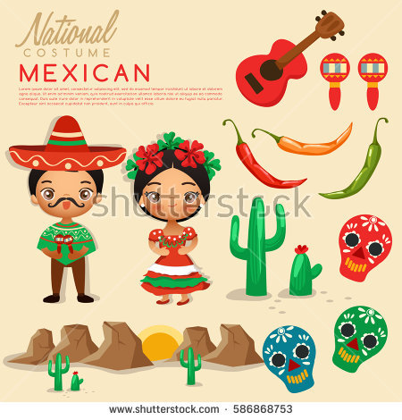 Mexican Costume Stock Images, Royalty.