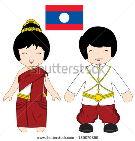 Traditional costumes clipart.