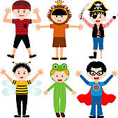 Stock Illustration of Child in fancy dress costume k10358636.
