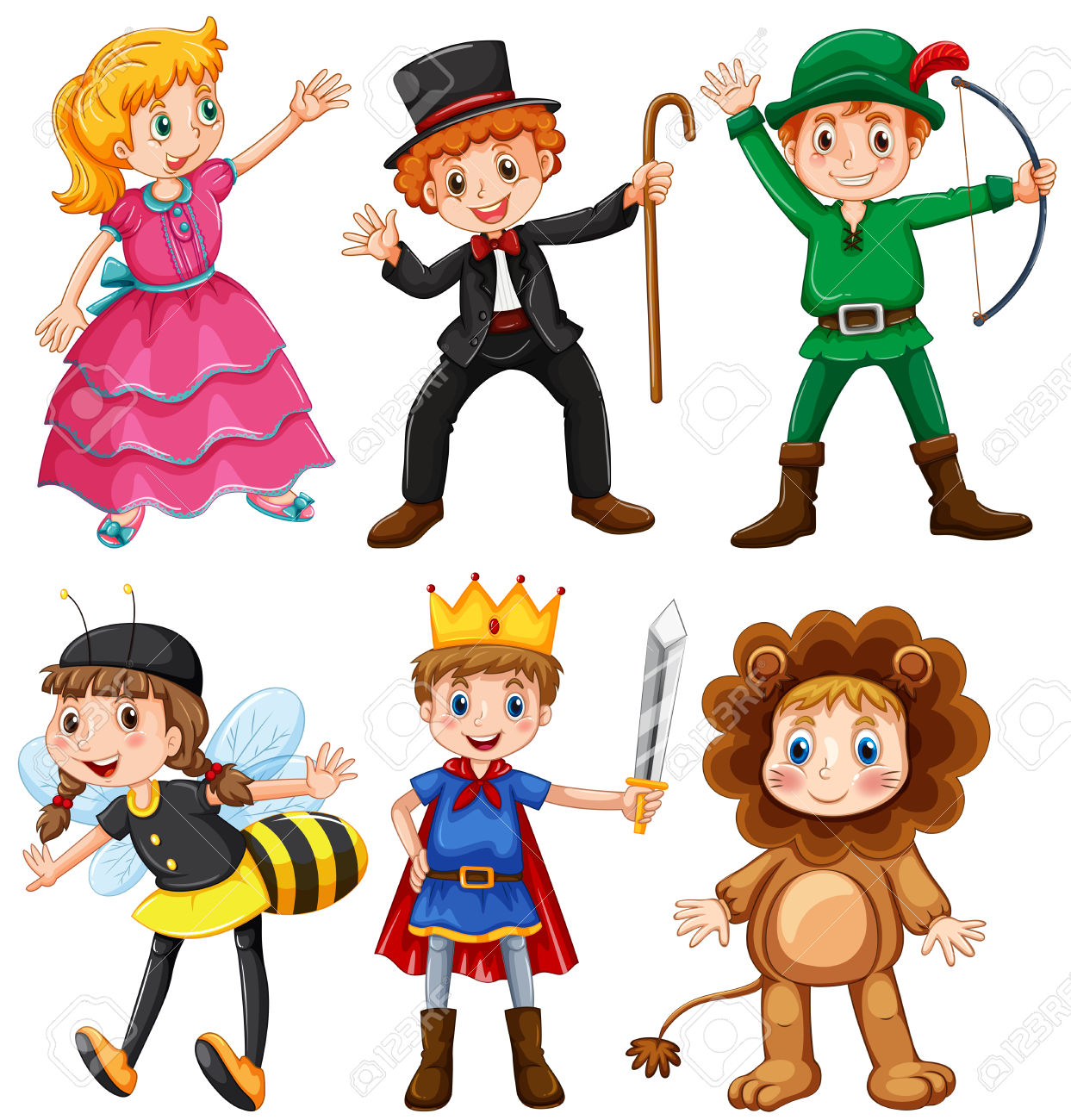 Clipart boy in prince costume.