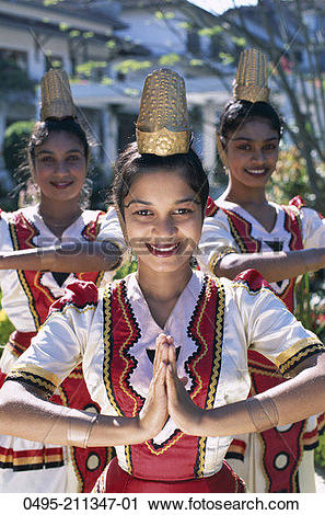Stock Photography of Sri Lanka, Kandy, Female Kandy Dancer Dressed.