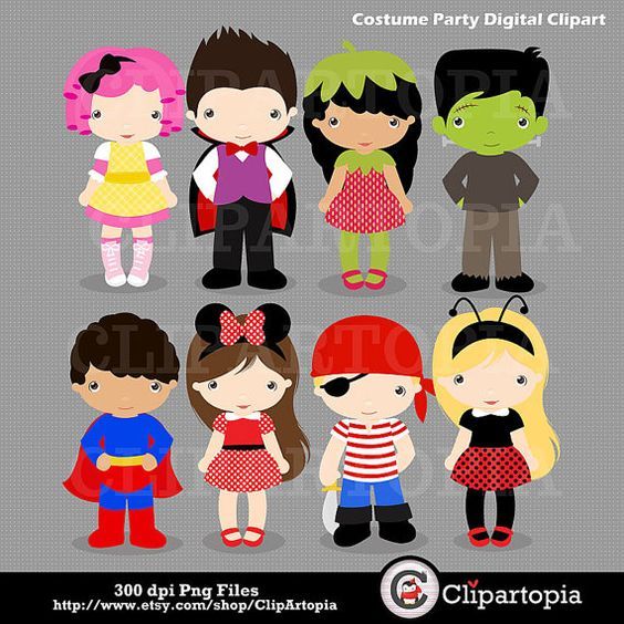 Costume Party Digital clipart / Kids Costume clip art / Monster.