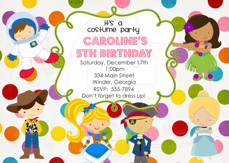 Costume party invite.