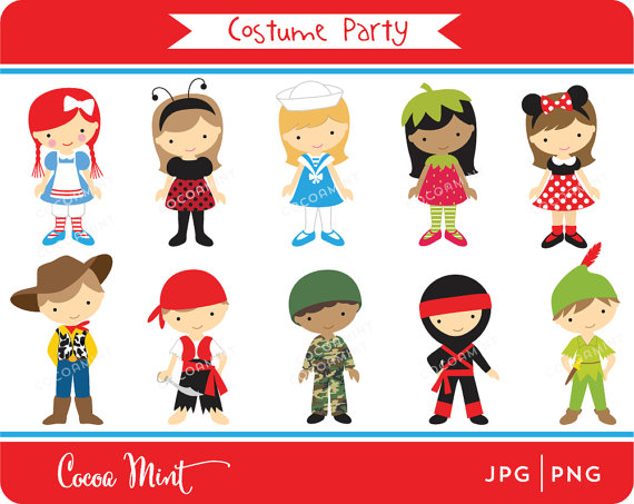 Costume Party Clipart.