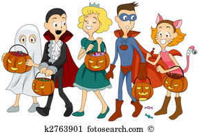 Halloween costumes Clipart and Stock Illustrations. 4,170.