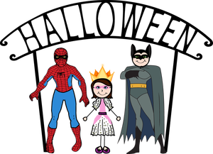 Halloween Costumes Clipart.