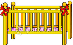 Free clipart cot.