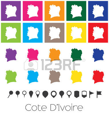 0 Map Of Cote D Ivoire Stock Vector Illustration And Royalty Free.